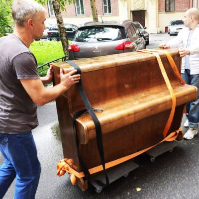 Квартирные переезды с перевозкой Пианино. Грузчики с ремнями